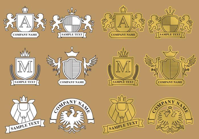 Logos héraldiques modernes vecteur