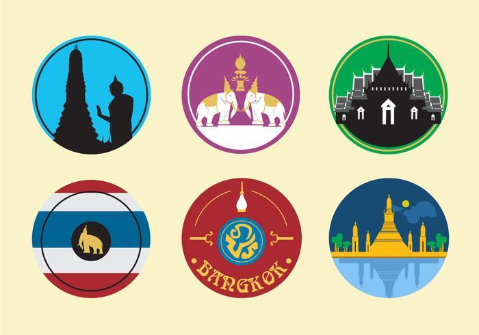 Icônes de la ville de Bangkok vecteur
