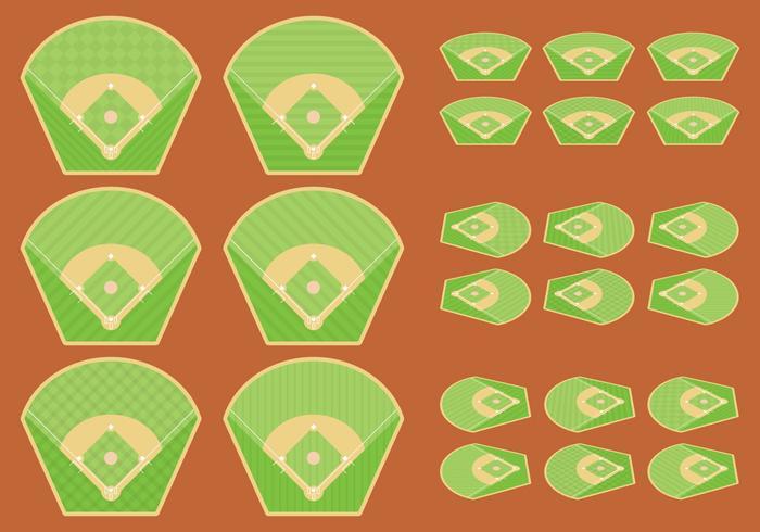 Diamants de baseball vecteur