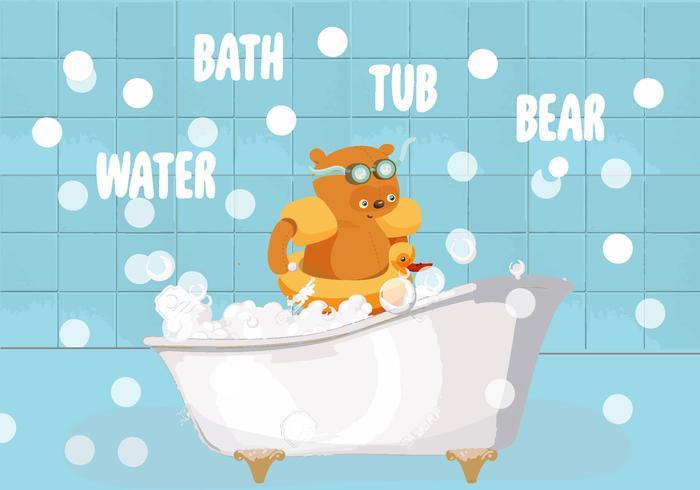 Illustration de vecteur de baignoire libre