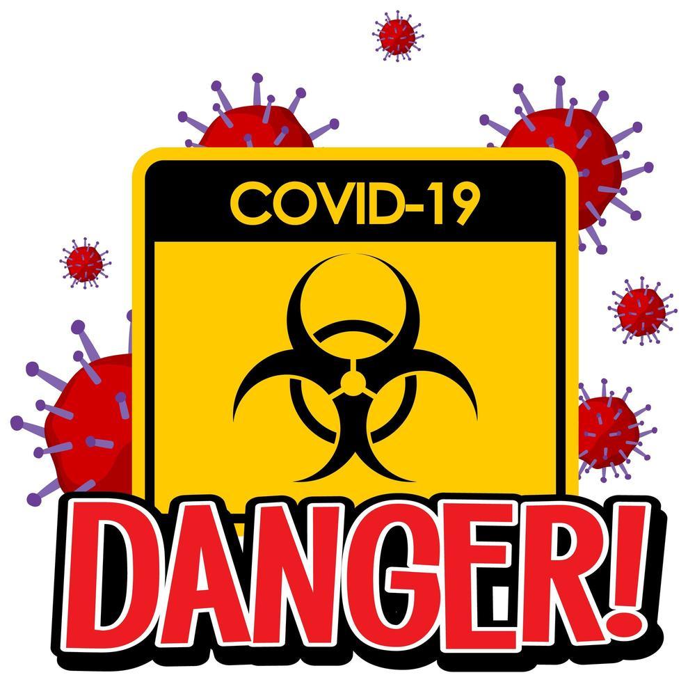 affiche pour covid-19 vecteur