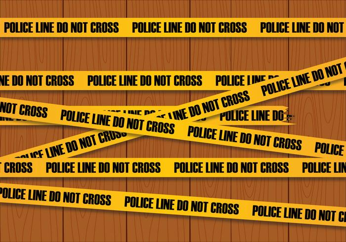 Vecteur de ligne de police