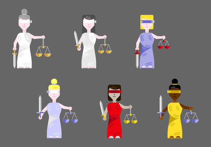 Vecteur de justice de dames gratuit