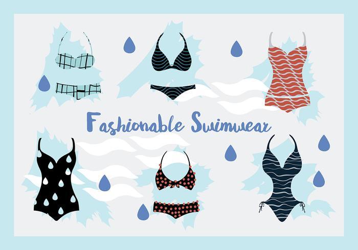 Maillots de bain femme et maillots de bain gratuits Vector Background