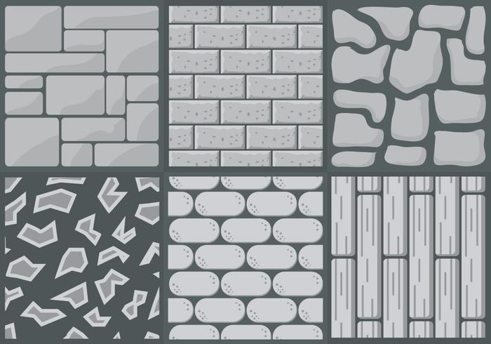 Collection de styles de chemin de pierre dans le vecteur