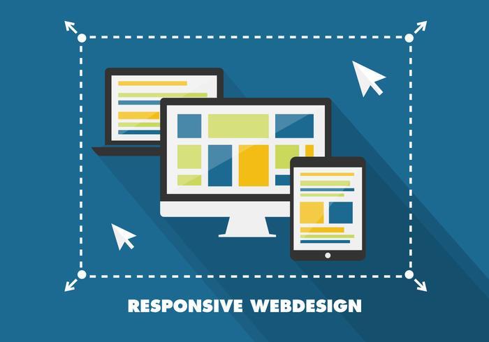 Free Flat Sensive Web Design Vector Background