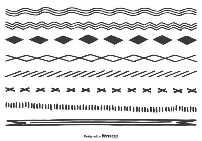 Bordures dessinées à la main vecteur