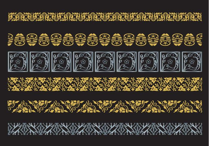 Frontières vectorielles décoratives d'Arabesco vecteur