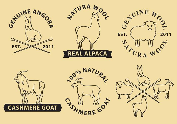 Logos vectoriels en laine et cachemire vecteur
