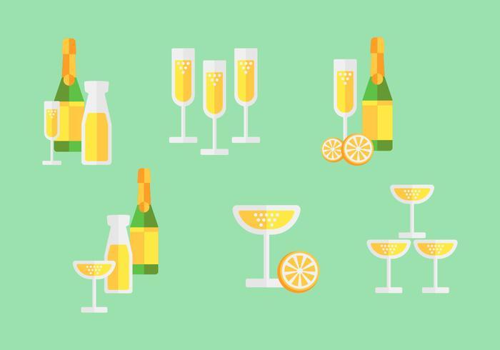 Pack de cocktail Mimosa gratuit vecteur