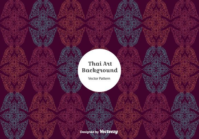 Vecteur de motif thai violet gratuit