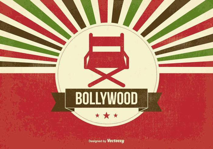 Illustration Retro Bollywood vecteur