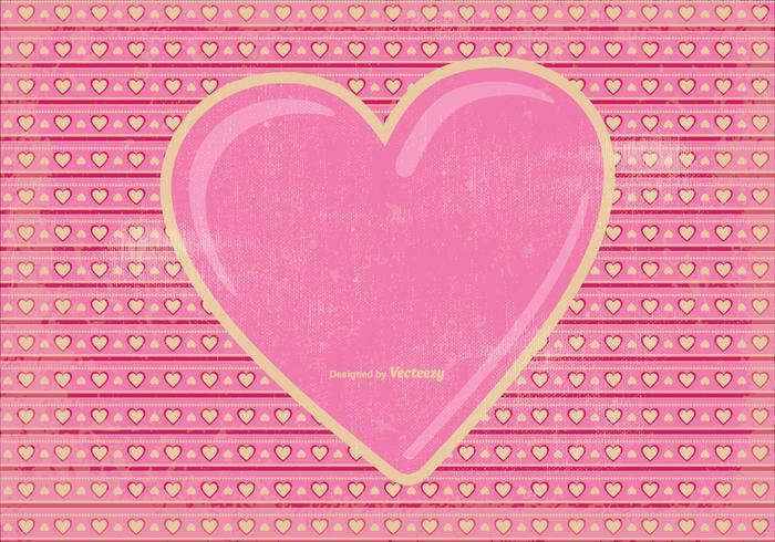 Fond d'écran Vintage Valentine's Day vecteur