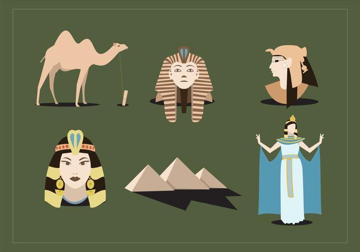 Vecteur ancien d'Egypte