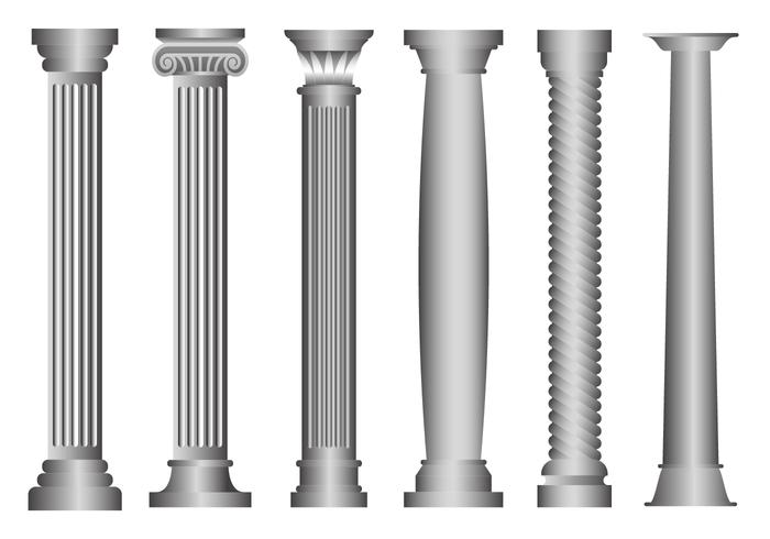 Vecteur de pilier roman gratuit
