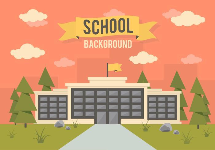 Fond de vecteur de paysage scolaire gratuit