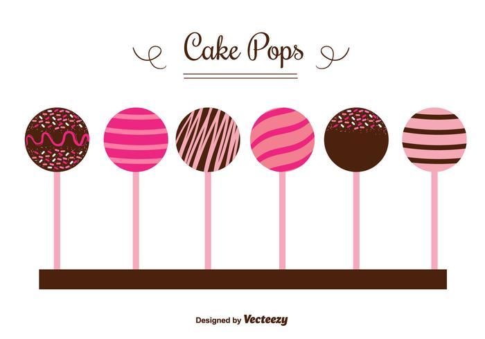 Vecteurs de gâteau pops vecteur