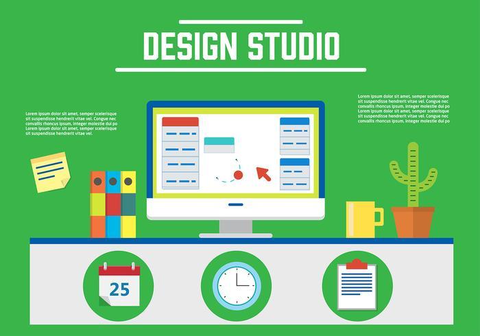 Vecteur de studio de conception gratuite
