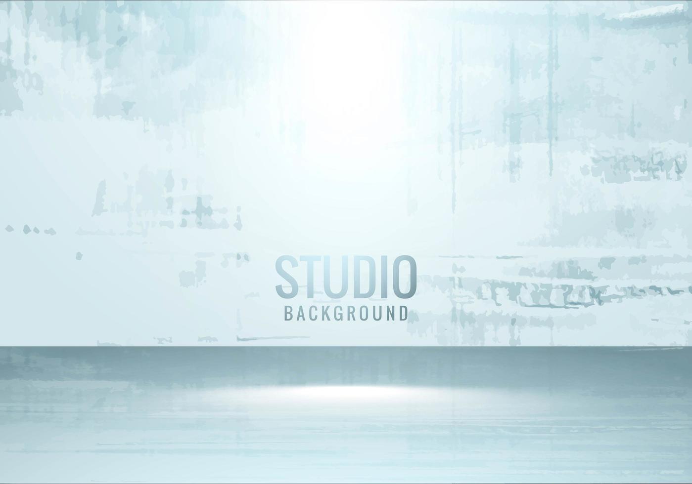 studio de mur de grunge avec fond de projecteur vecteur