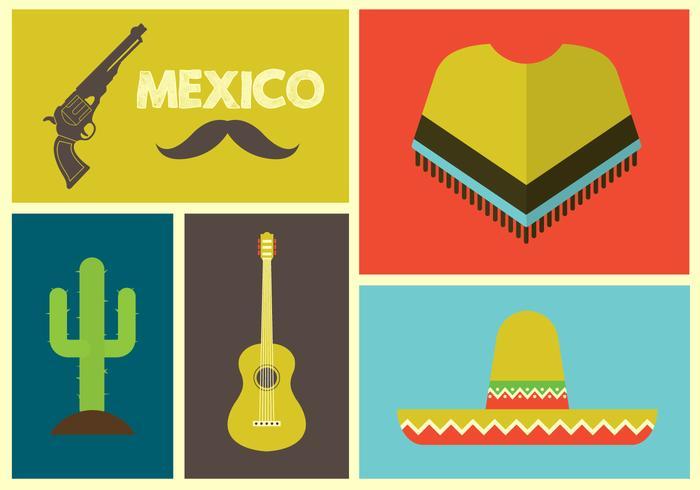 Illustration Vecteur d'icônes mexicaines