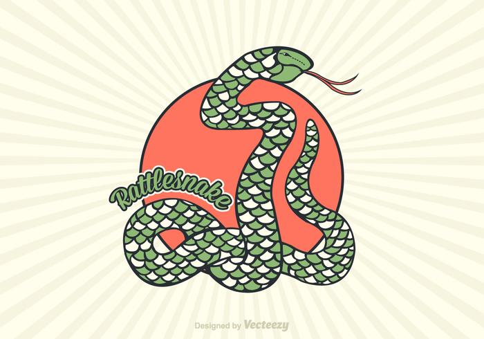 Vecteur libre de serpent à sonnette