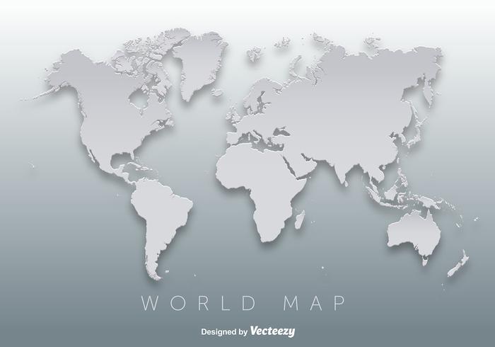 Carte du monde vecteur silhouette 3d
