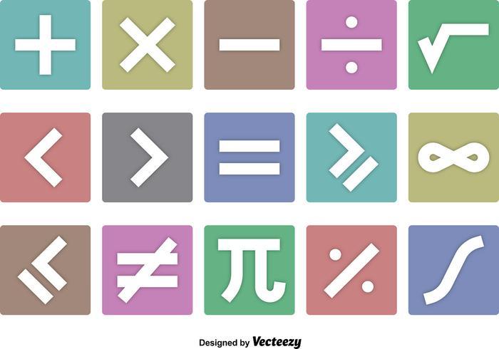 Symboles mathématiques vecteurs d'icônes vecteur