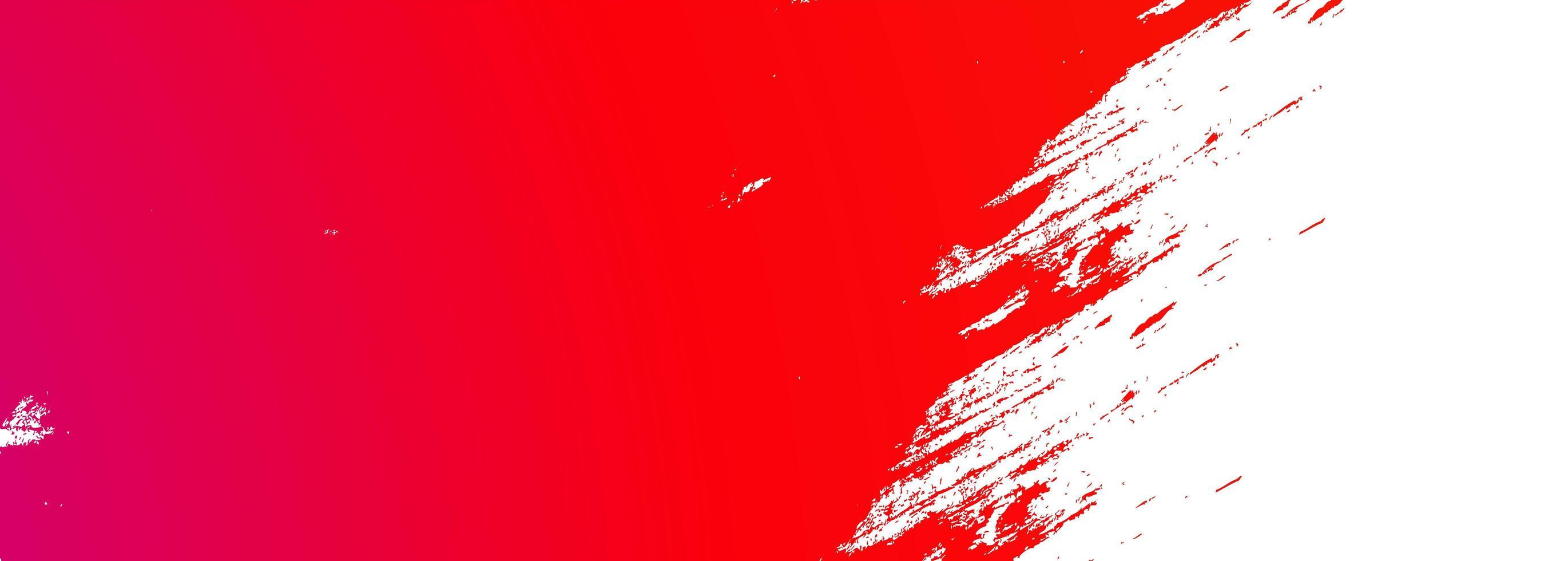 bannière de coup de pinceau de peinture rouge abstraite vecteur