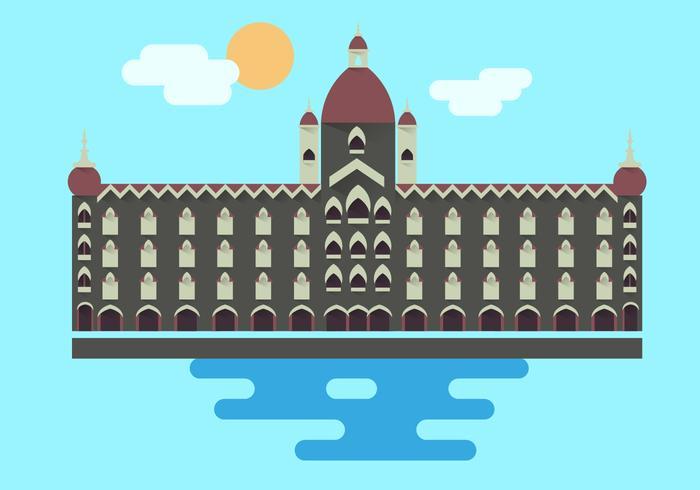 Illustration d'illustration de monument de Mumbai vecteur