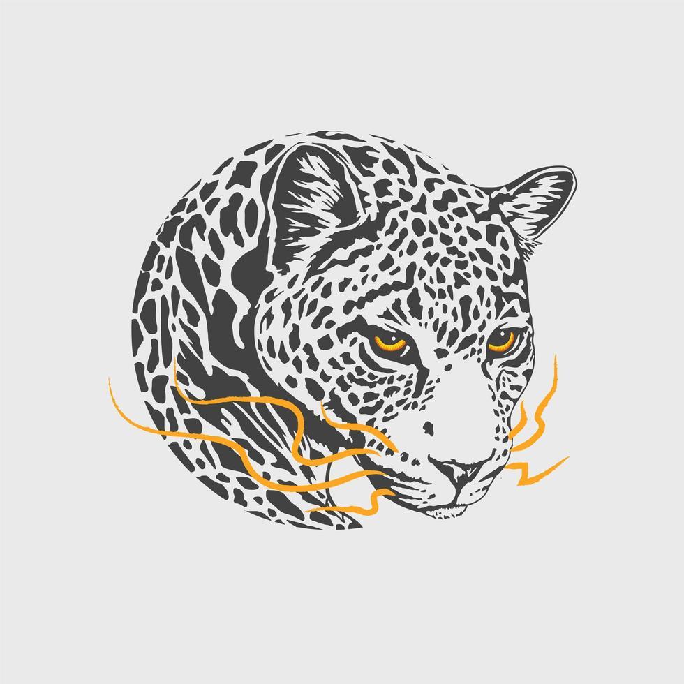 mascotte de chaleur léopard vecteur