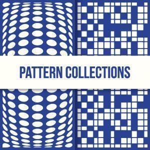 conceptions de motifs en forme de carré et de cercle 3d à la mode vecteur