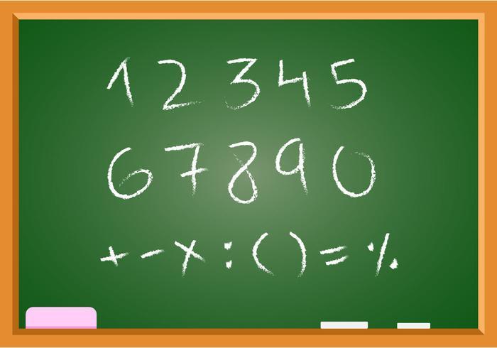 Vecteur mathématique gratuit à la main