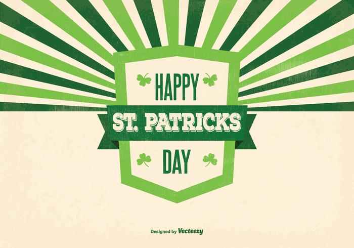 Illustration du rétro St Patrick's Day vecteur
