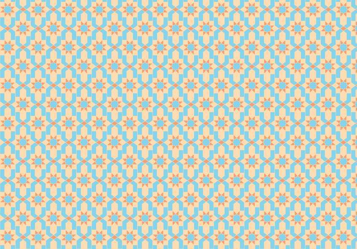 Vecteur de motif de carreaux marocain