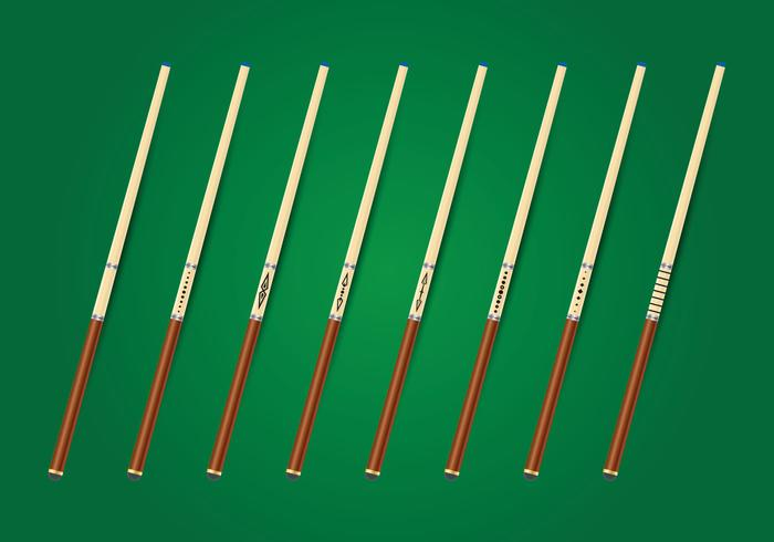 Collection de bâtons de bâtons de piscine vecteur