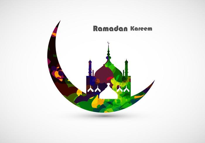 Carte décorative Ramadan Kareem vecteur