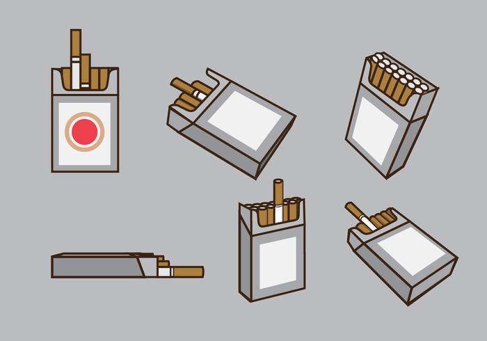 Vecteur de paquets de cigarettes