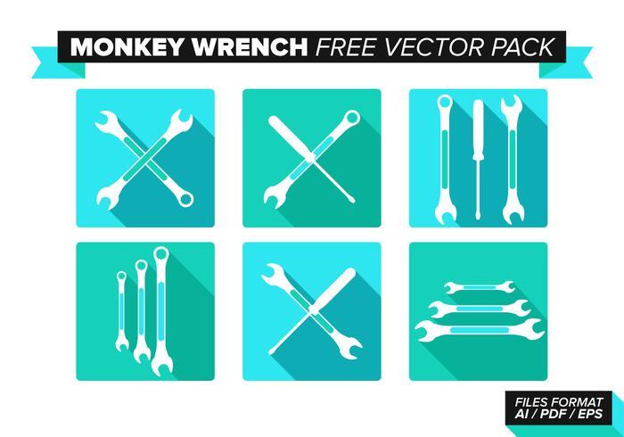 Ensemble de vecteur gratuit à clé à singe
