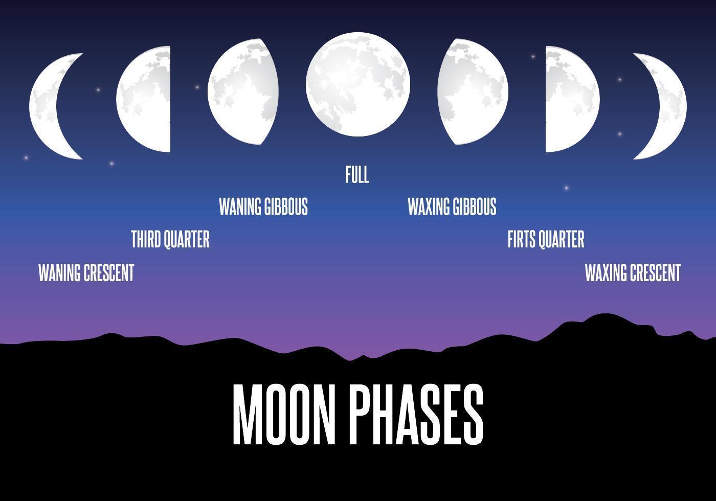Illustration de phase lunaire vecteur