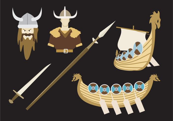Viking legend vector