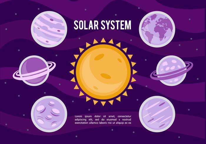 Fond d'écran du système solaire gratuit vecteur
