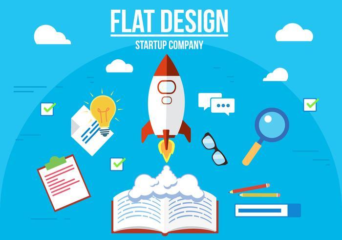 Illustration vectorielle de Startup Company gratuite vecteur