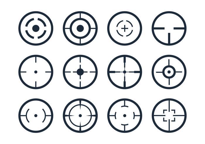 Icônes vectorielles du viseur Crosshair vecteur