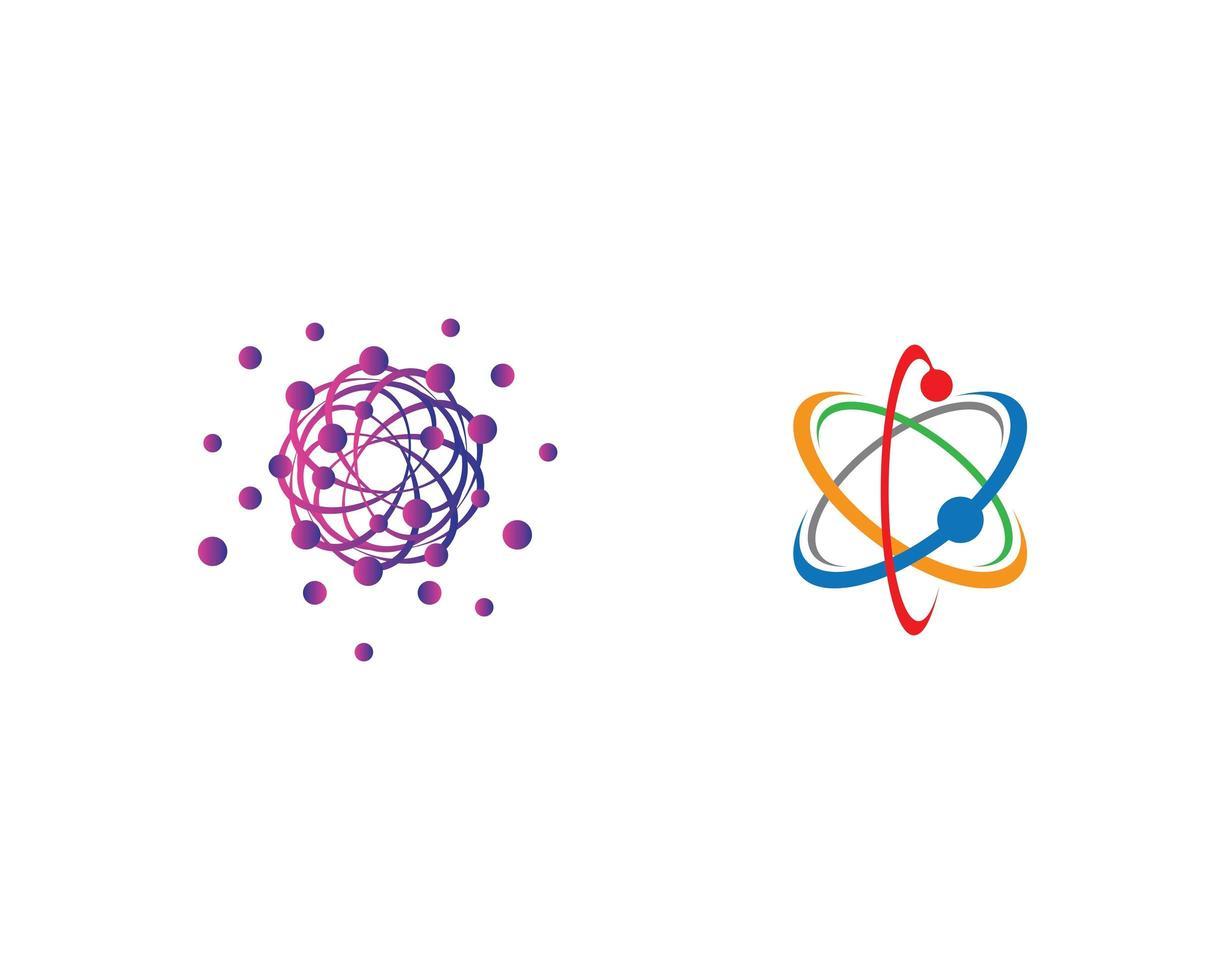 jeu d'icônes de molécule vecteur