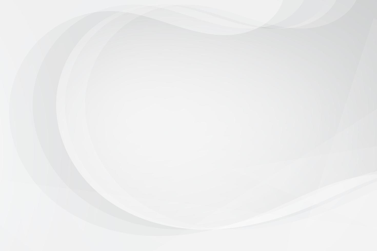 fond abstrait de courbes blanches et grises vecteur