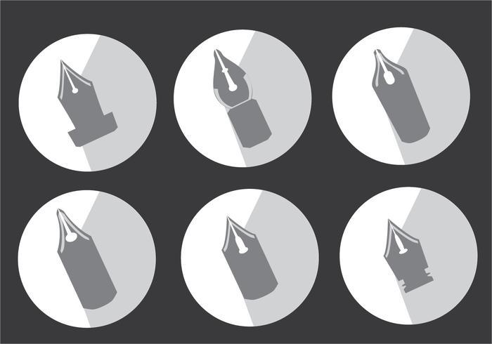 Vecteur de silhouette stylo nib