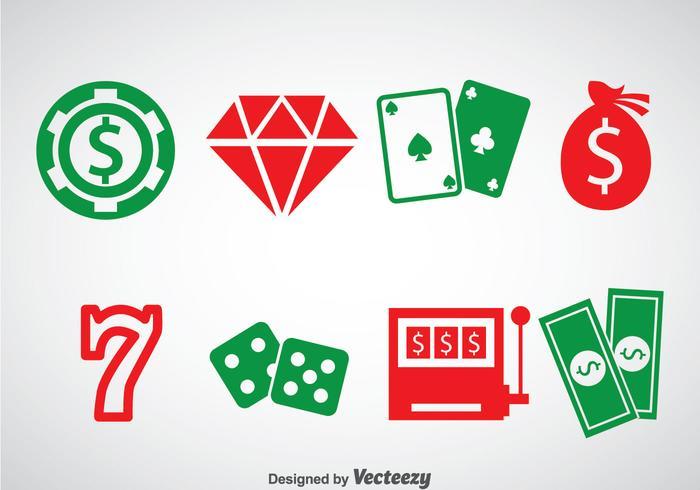 Casino royale ellement icônes vecteur