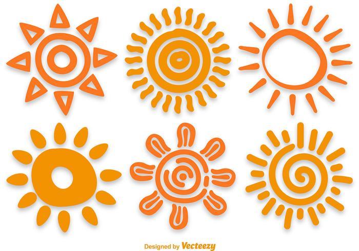 Vecteurs Sun Drawn Sun vecteur