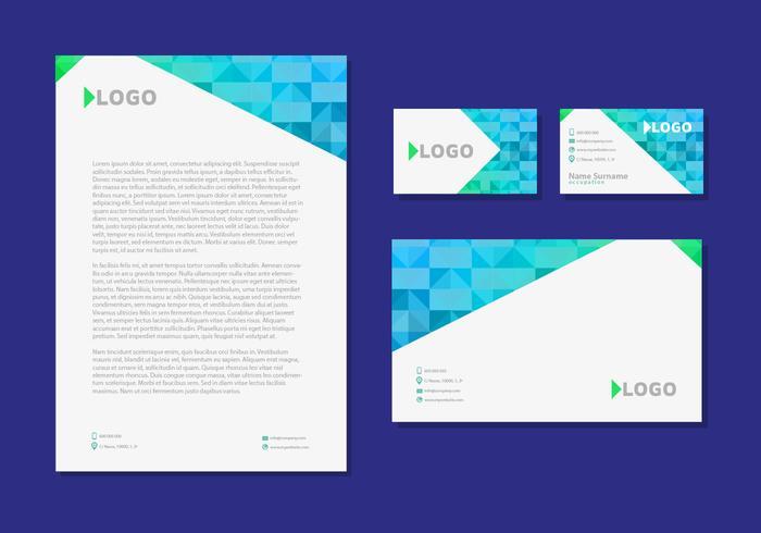 Letter Head Design Business Cards Identité d'entreprise Papeterie vecteur