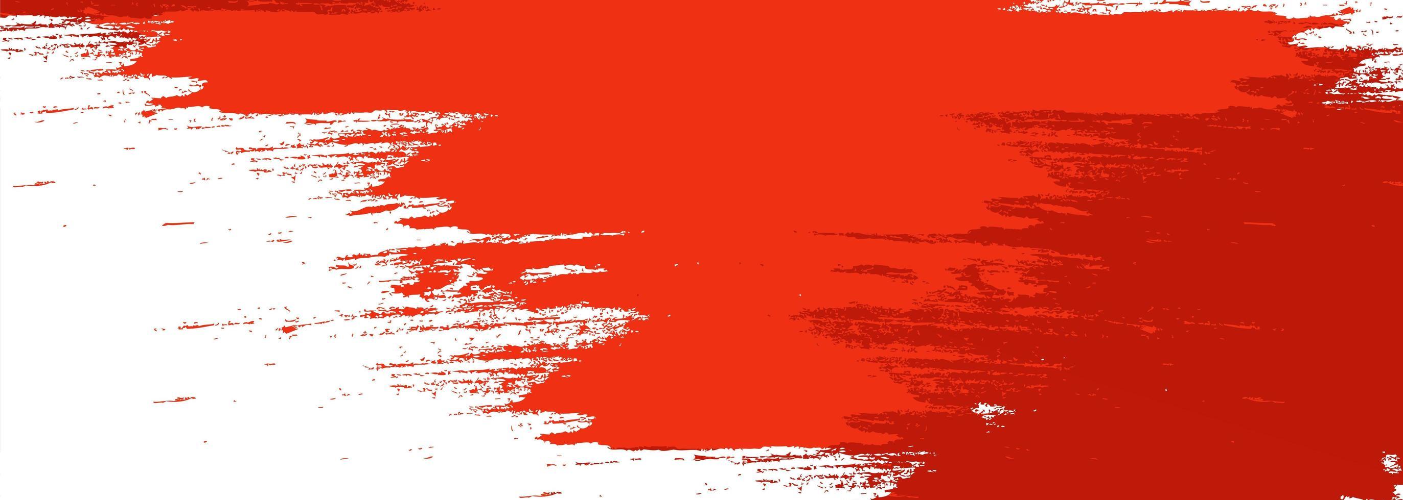 fond de bannière aquarelle pinceau rouge moderne vecteur